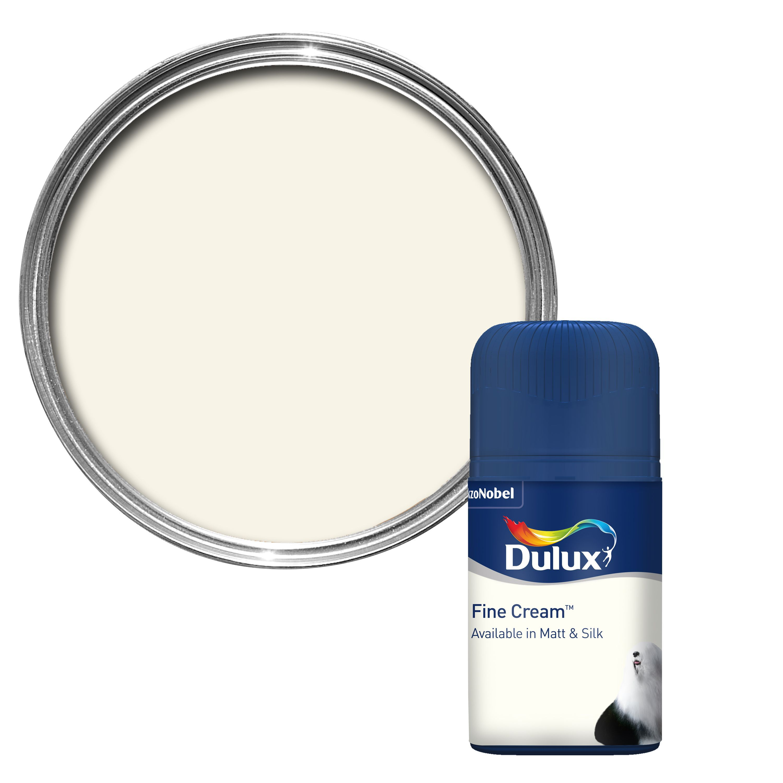 Paint Tester dulux standard fine cream matt paint tester pot 0.05l tester pot