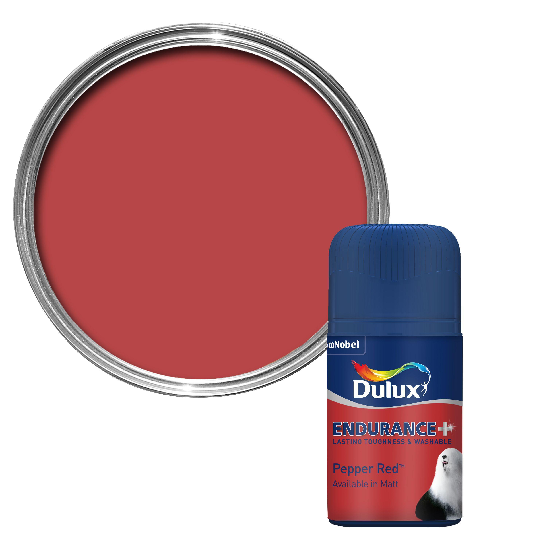 Paint Tester dulux endurance pepper red matt paint tester pot 0.05l tester pot