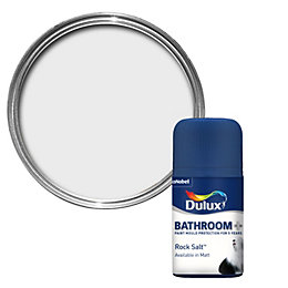 Dulux Bathroom Rock Salt Soft Sheen Paint Tester