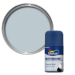 Dulux Bathroom+ Coastal Grey Soft Sheen Paint Tester
