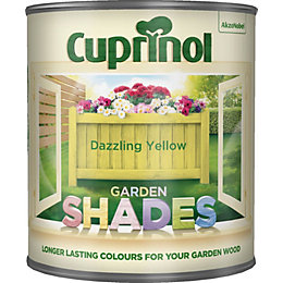 Cuprinol Garden Shades Dazzling Yellow Matt Wood Paint