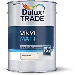 Dulux Trade Jasmine White Matt Vinyl Paint 5L