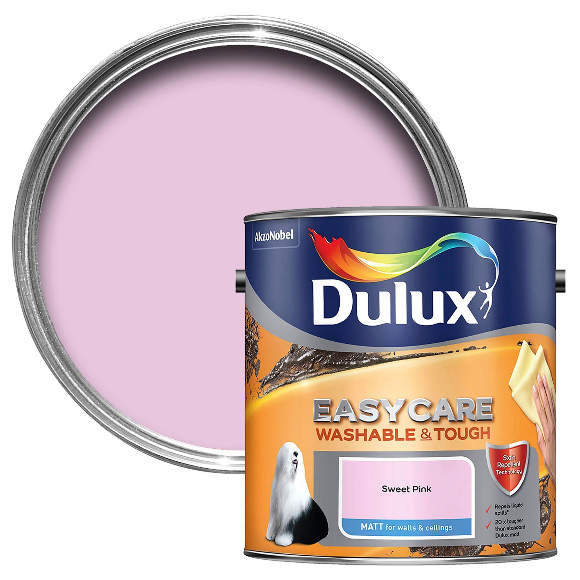 Dulux Easycare Sweet Pink Matt Emulsion Paint 2.5l