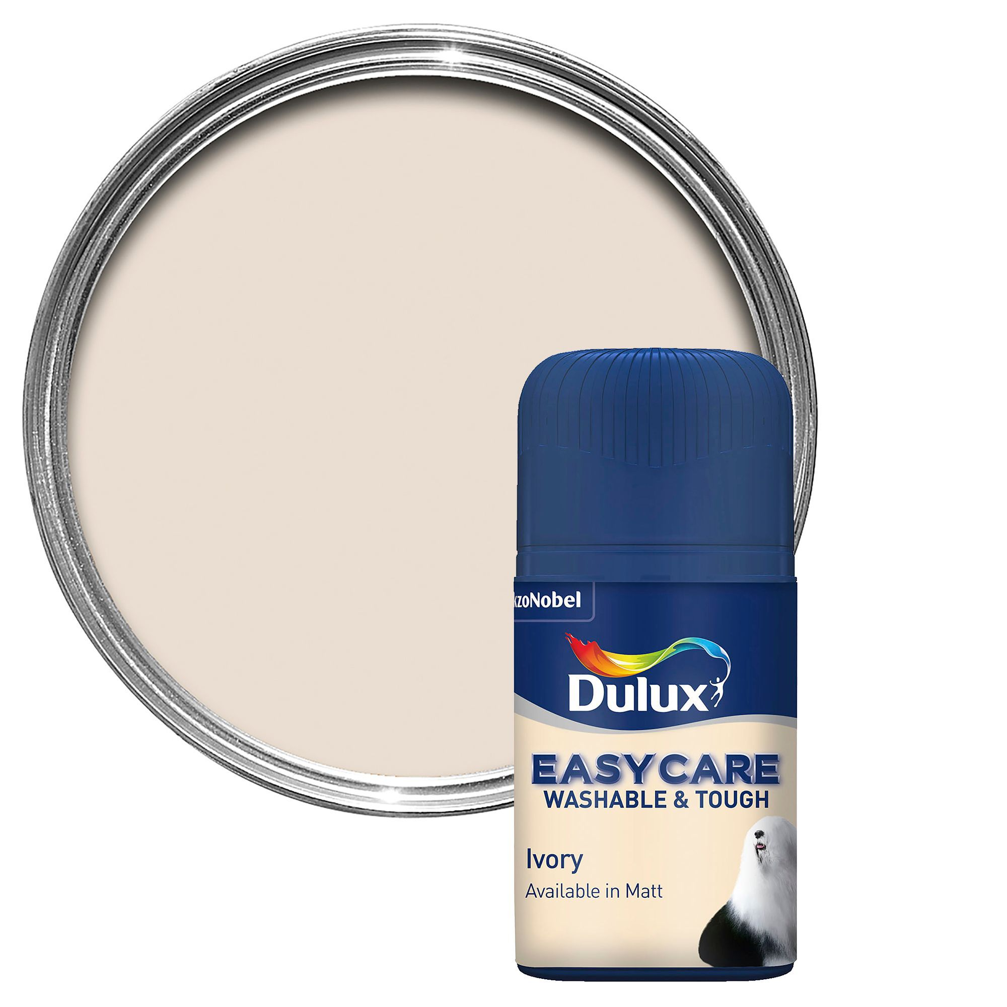 Dulux Easycare Ivory Matt Emulsion Paint 0.05l Tester Pot
