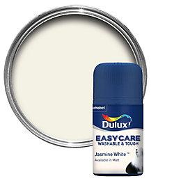 dulux trade jasmine white matt vinyl paint 5l. Black Bedroom Furniture Sets. Home Design Ideas