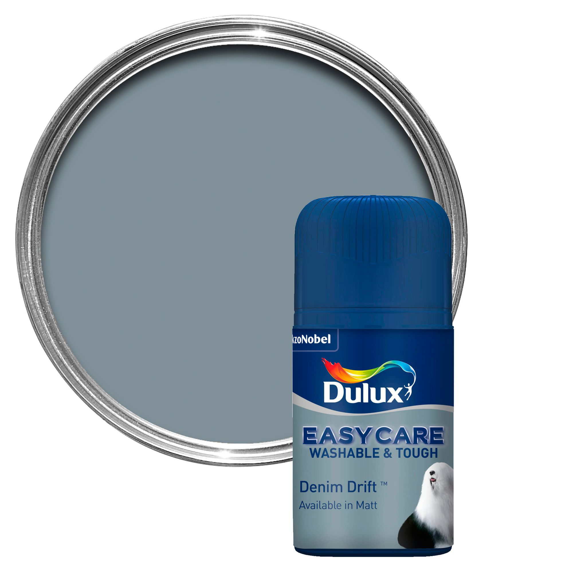 dulux easycare denim drift matt emulsion paint. Black Bedroom Furniture Sets. Home Design Ideas