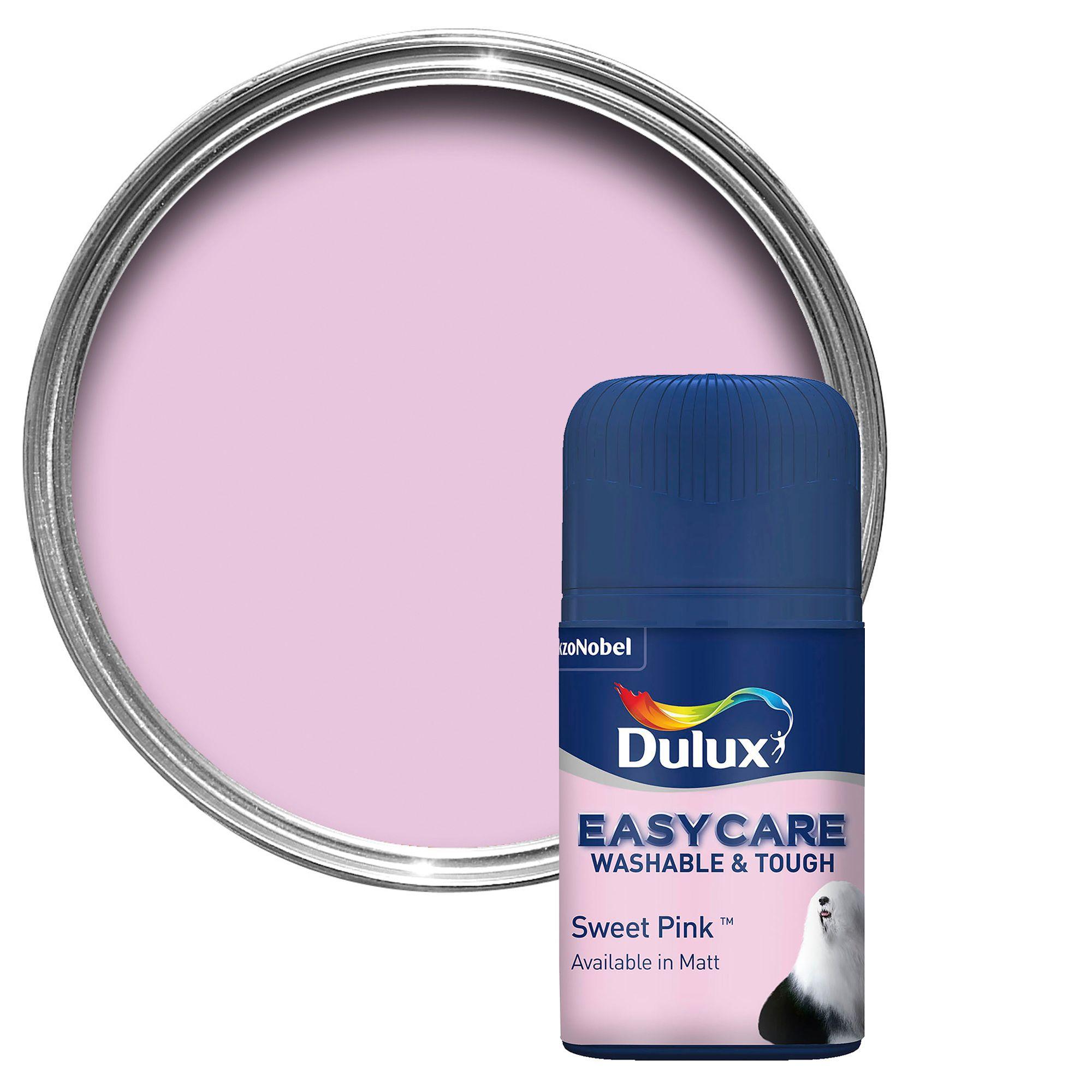 Dulux Easycare Sweet Pink Matt Emulsion Paint 50ml Tester Pot