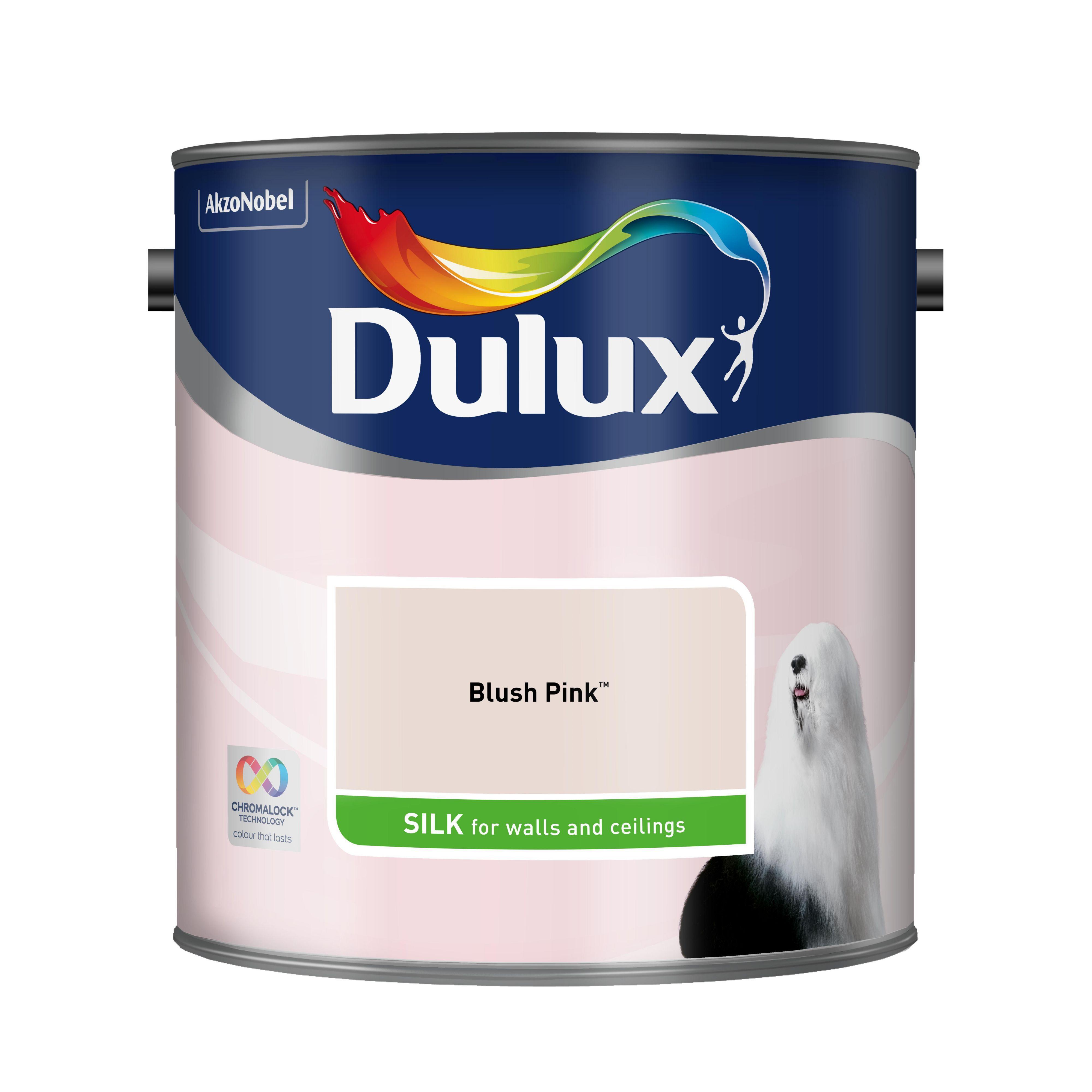 Dulux Blush Pink Silk Emulsion Paint 2.5l