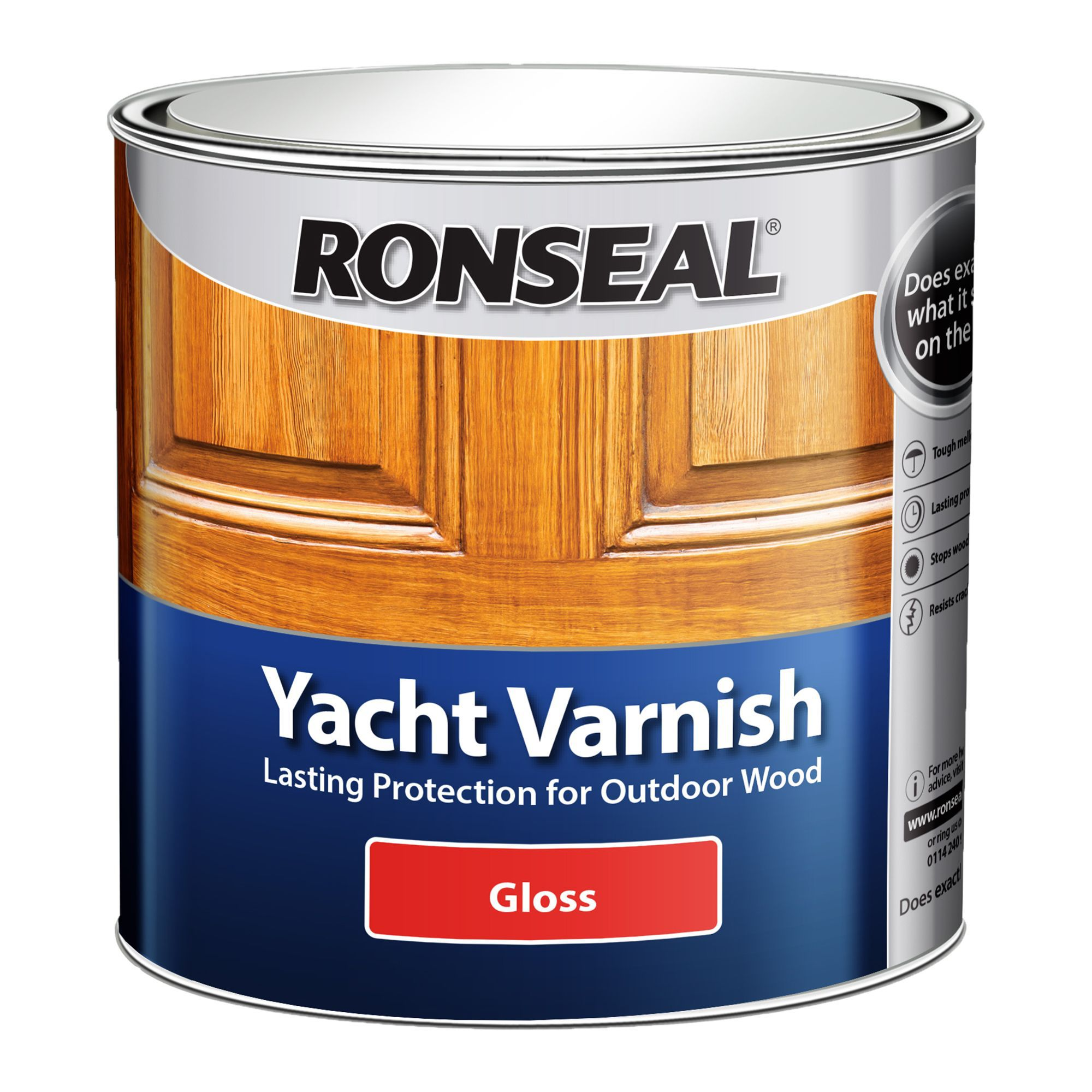 Ronseal Gloss Yacht Varnish 2500ml Departments Tradepoint