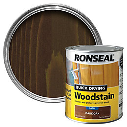 Ronseal Dark Oak Satin Wood Stain 750ml