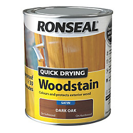 Ronseal Exterior Woodstain Dark Oak Woodstain 750ml
