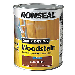 Ronseal Exterior Woodstain Antique Pine Woodstain 750ml