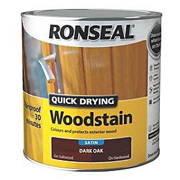Ronseal Exterior Woodstain Dark Oak Woodstain 2.5L