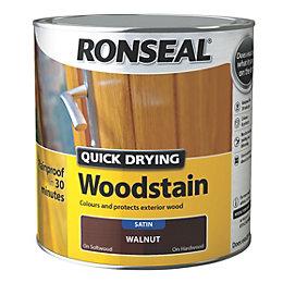 Ronseal Exterior Woodstain Walnut Woodstain 2.5L