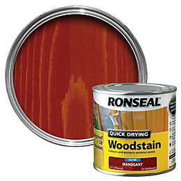 Ronseal Mahogany Satin Wood Stain 250ml