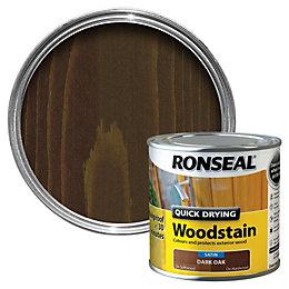 Ronseal Dark Oak Satin Wood Stain 250ml