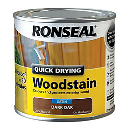 Ronseal Exterior Woodstain Dark Oak Woodstain 250ml