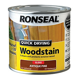 Ronseal Exterior Woodstain Antique Pine Woodstain 250ml