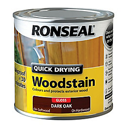 Ronseal Exterior Woodstain Dark Oak Woodstain 250ml