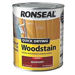Ronseal Exterior Woodstain Mahogany Woodstain 750ml