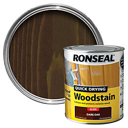 Ronseal Dark Oak Gloss Wood Stain 750ml