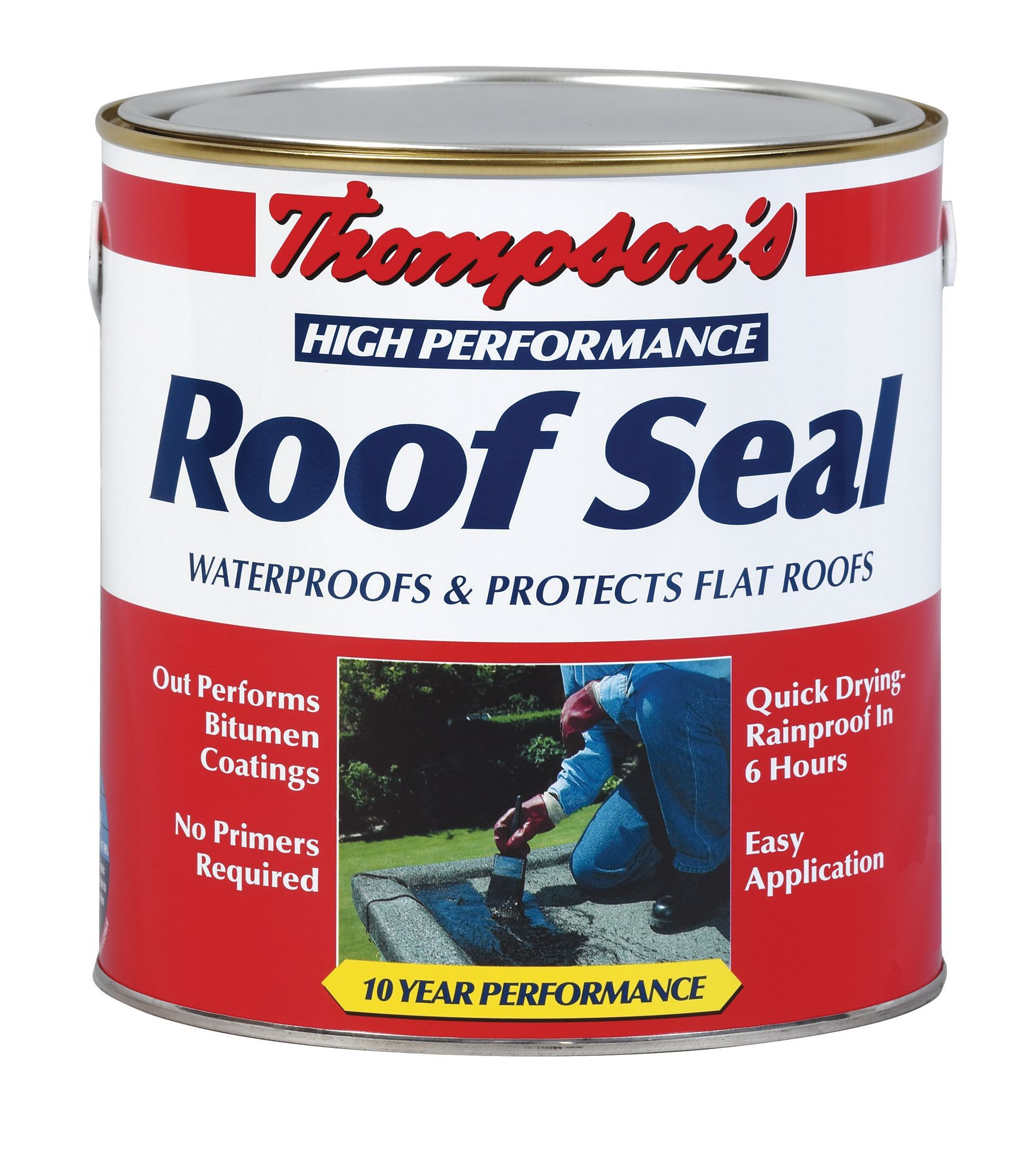 thompson s high performance grey roof sealant 4l departments