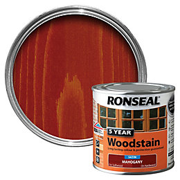 Ronseal Mahogany High Satin Sheen Wood Stain 250ml