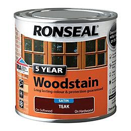 Ronseal Exterior Woodstain Teak Woodstain 250ml