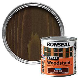 Ronseal Dark Oak High Satin Sheen Wood Stain