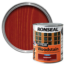 Ronseal Mahogany High Satin Sheen Woodstain 0.75L