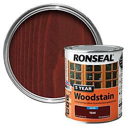 Ronseal Teak High Satin Sheen Wood Stain 750ml