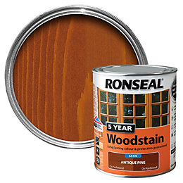 Ronseal Antique Pine High Satin Sheen Woodstain 0.75L