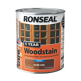 Ronseal Exterior Woodstain Dark Oak Woodstain 750ml