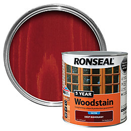 Ronseal Deep Mahogany High Satin Sheen Woodstain 2.5L