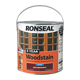 Ronseal Exterior Woodstain Deep Mahogany Woodstain 2.5L