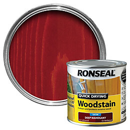 Ronseal Deep Mahogany Satin Wood Stain 250ml