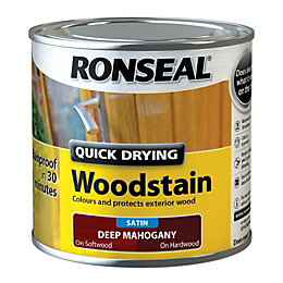 Ronseal Exterior Woodstain Deep Mahogany Woodstain 250ml