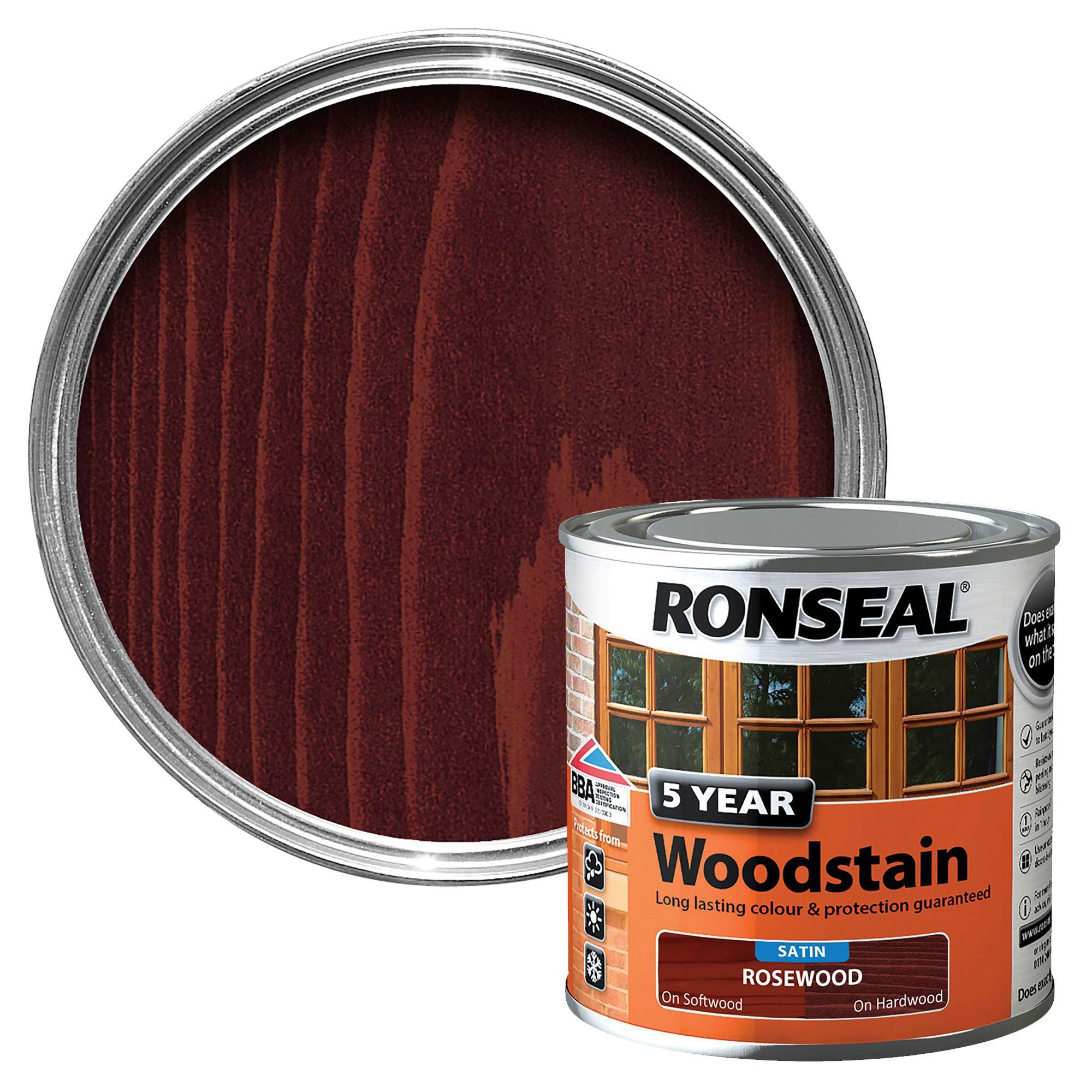 Ronseal Rosewood High Satin Sheen Woodstain Departments Diy At B Q