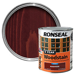 Ronseal Rosewood High Satin Sheen Wood Stain 750ml