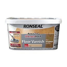 Ronseal Diamond Hard Clear Gloss Floor Varnish 2.5L