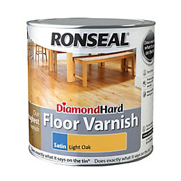 Ronseal Diamond Light Oak Satin Floor Varnish 2500ml