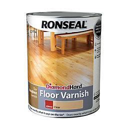 Ronseal Diamond Clear Gloss Floor Varnish 5L