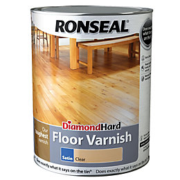 Ronseal Diamond Hard Clear Satin Floor Varnish 5L