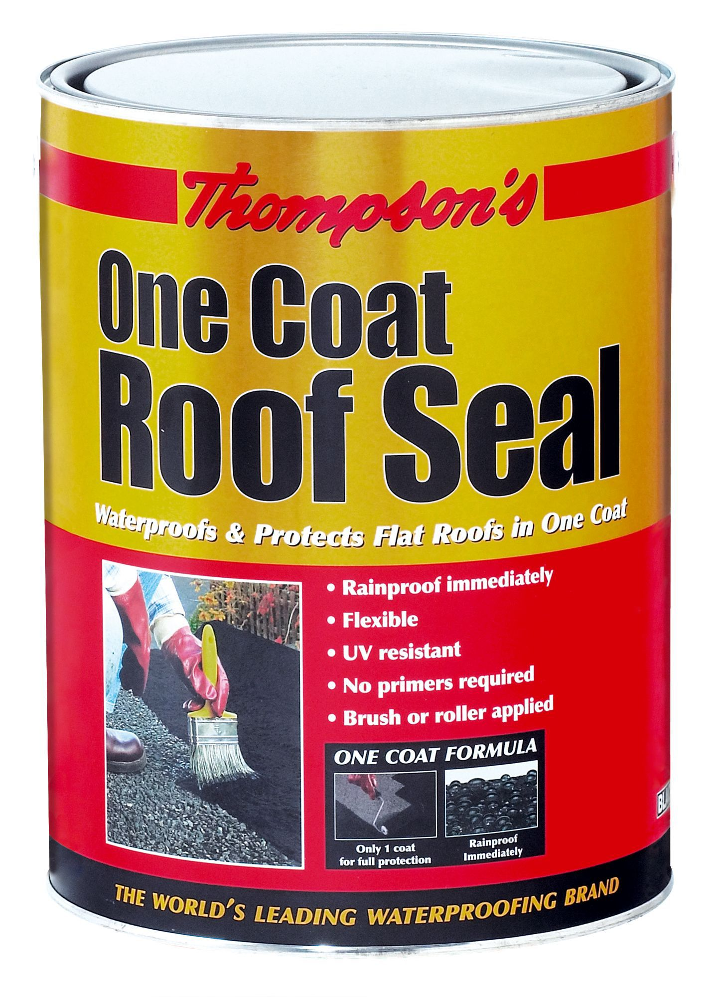 thompson s roof seal black roof sealant 5l departments diy at b q