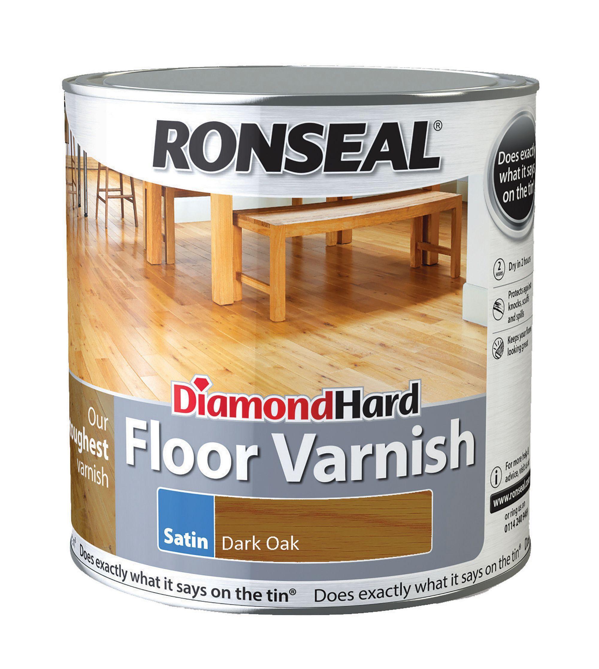 Ronseal Diamond Dark Oak Satin Floor Varnish 2500ml