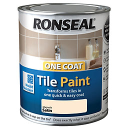 Ronseal Tile Paints Magnolia Satin Tile Paint 750ml