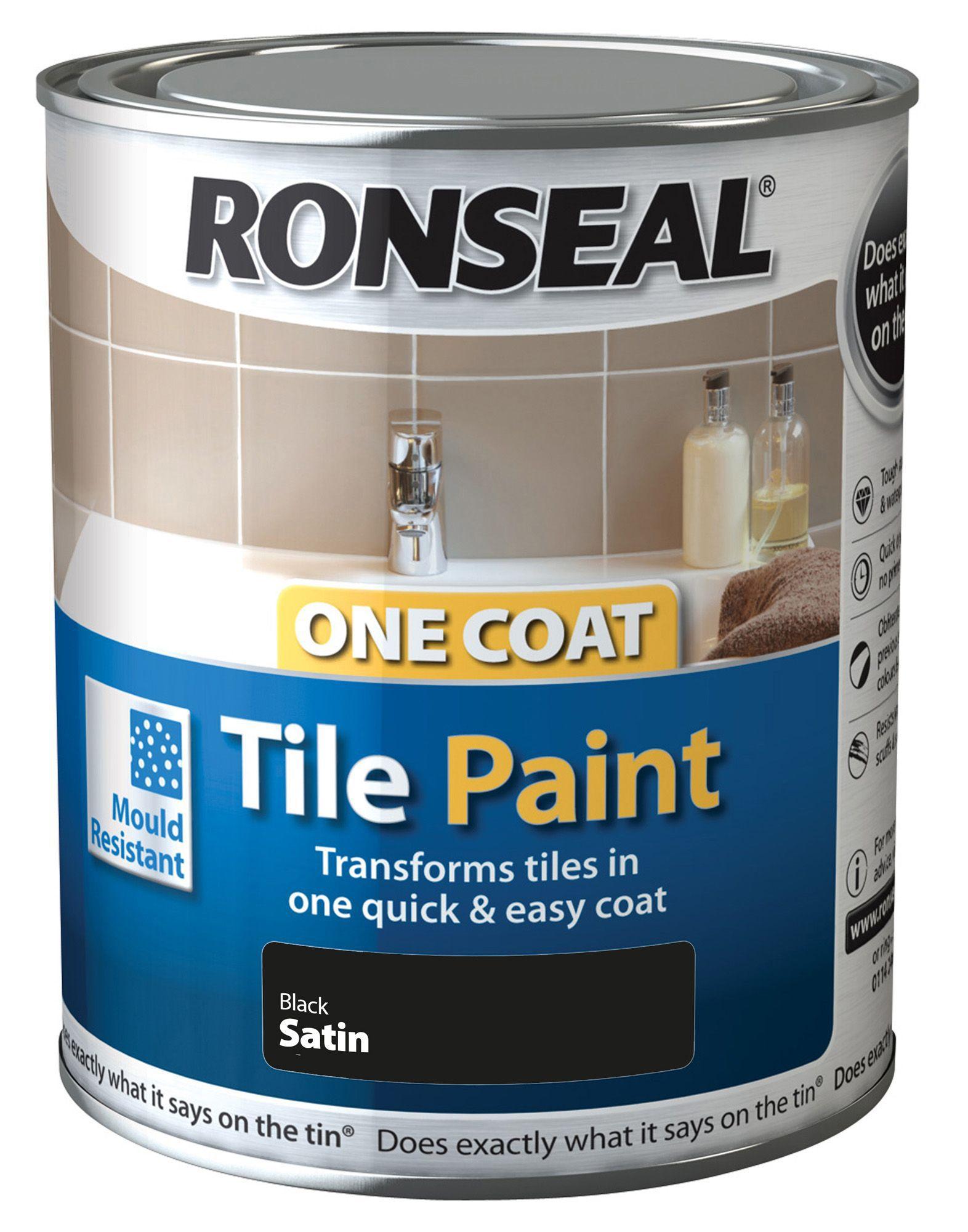Ronseal Tile Paints Black Satin Tile Paint0.75L | Departments | DIY At Bu0026Q Part 57