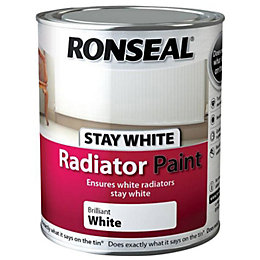 Ronseal Brilliant White Gloss Radiator Paint 750 ml