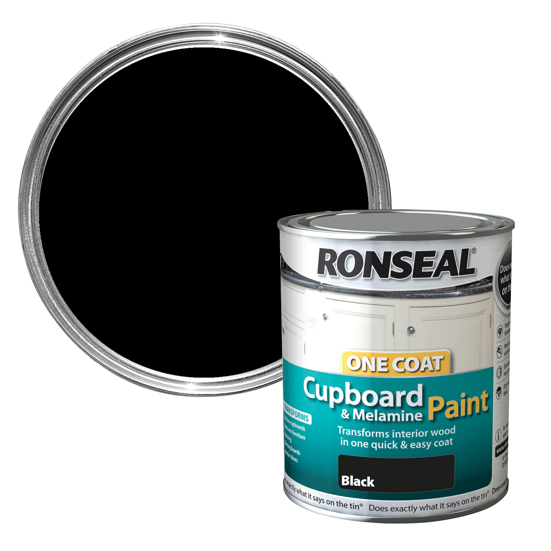 Ronseal Black Satin Cupboard Paint 750 Ml Departments Diy At B Q
