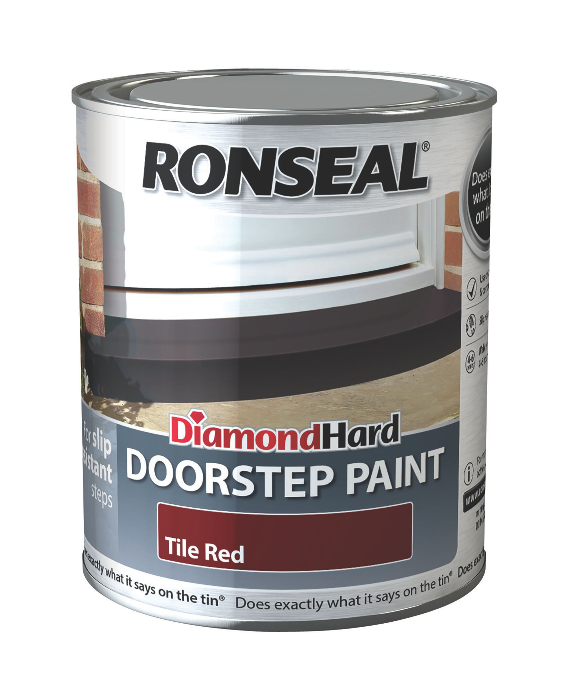 ronseal doorstep paint tile red satin doorstep paint0 75l
